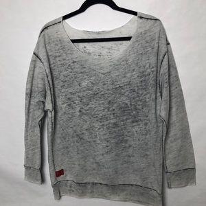 Feel the Piece lightweight burnout sweatshirt